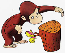 """6.5-10.5"""" CURIOUS GEORGE MONKEY CHARACTER WALL SAFE STICKER BORDER CUT OUT"""