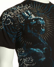 Archaic AFFLICTION Men T-Shirt GATE KEEPERS Lion Roar Tattoo Biker UFC M-4XL $40