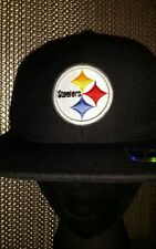NFL Pittsburgh Steelers Hat Team Steeler Reebok Black Fitted Cap Field Mens Size