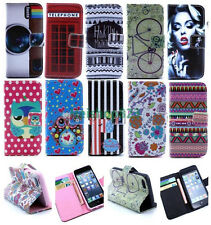 Pattern Wallet Card Holder Stand Leather Case Cover For Various Mobile Phones