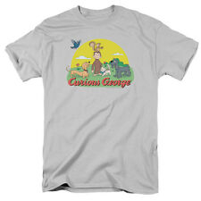 Curious George Monkey Childrens Book Character Sunny Friends Adult T-Shirt Tee