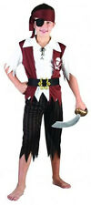 CHILD CARRIBEAN PIRATE BOY BOOK WEEK FANCY DRESS COSTUME AGES 7-8 YEARS