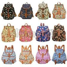 Fashion Vintage Satchel Hobo Travel Canvas School Bag Bookbag Rucksack Backpack