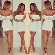 Fashion Women's Sexy Summer Bandage BodyCon Lace Evening Party Cocktail Dress