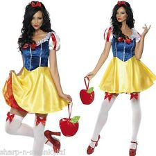 Ladies Sexy Snow White Disney Princess Fairytale Fancy Dress Costume Outfit 8-18