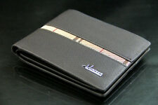 Free Shipping Leather Black Brown Mens Womens New Bifold Wallet Purse Nice 930