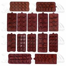 Heart Bar Silicone Chocolate Fondant Cake Ice Soap Cube Tray Jelly Candy Mold