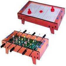 DELUXE MINI FOOTBALL FOOSBALL ICE HOCKEY TABLE TOP TOY FAMILY GAME XMAS GIFT