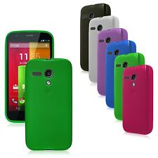Transparent Matte Silicone TPU Flex-Gel Case for Motorola Moto G Google Play