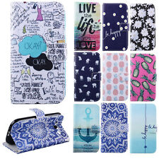 Deluxe Leather Flip Wallet Card Hold Case Cover For Samsung Galaxy SIII S3 i9300