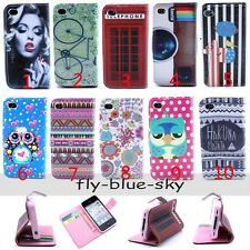 Fashion Magnetic Ethnic OWL Flip PU Leather Stand Wallet Case For Cell Phones