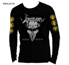Official T Shirt VENOM Welcome to Hell BLACK METAL Silver L/S All Sizes