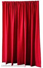 Shcool Theater Stage Backdrop Drapes Cherry Red Velvet 12 ft Curtain Long Panel
