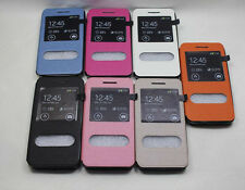 """Flip Holder Stand Leather + TPU Back Cover Case For Asus ZenFone 4 A450CG 4.5"""""""