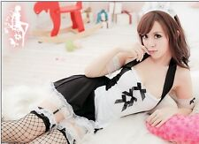 Sexy Lingerie Girl Adult Women French Maid Lace Fancy Dress Outfit Party Costume