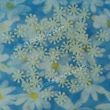 100 - 500 Pearlized 15mm Snowflake Pearl Bead Christmas Decoration Scrapbooking
