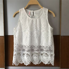 Exclusive Custom Women's Embroidery Floral Lace Crochet Tee T-Shirt Top Blouse