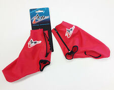 TEOSPORT Red BOOTIES / Shoe Covers: TRACK, Time Trial, Aero