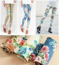 Sexy Slim Women Stretch Skinny Flower Floral Leggings Pants Bottoms Jeans Tights