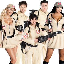 Ghostbusters Halloween Boys Child Mens Adult Fancy Dress Ghostbuster Costume