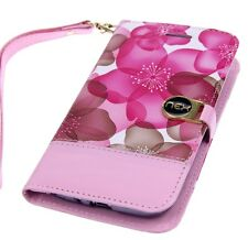 NEX Pink Daisy  Universal Slider ID Wallet Pouch for LG 2 Phones + Stylus
