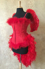 Angel/Showgirl/Saloon Red Devil Cosplay Carnival Parade Circus Burlesque Costume