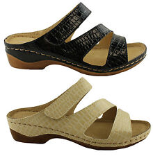 COMFORT LEISURE ZARA WOMENS/LADIES SHOES/SANDALS/ADJUSTABLE STRAPS/SLIDES/MULES