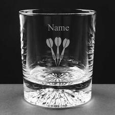 PERSONALISED ENGRAVED LEAD CRYSTAL DARTS WHISKY / JUICE GLASS Birthday NEW