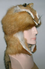 NEW  RED FOX MOUNTAIN MAN FUR HAT WITH FACE MADE IN USA