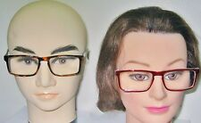 1 PR.GREAT LOOKING UNISEX READING GLASSES POWERS 4.50, 5.00, 6.00 2 COLORS