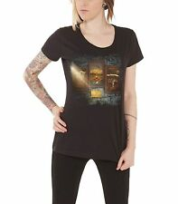 Opeth Communication Album Official Womens New Black Skinny Fit T Shirt All Sizes