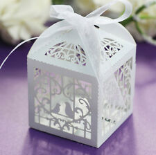 New Love Pigeon Heart Candy Boxes Wedding Favor Party Gift Boxes With Ribbons