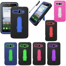 For Alcatel One Touch Sonic LTE 7030Y Shock Kickstand Cover Phone Case Stylus