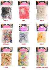 1000 PIECE GIANT LOOM BANDS BAGS BRACELET MAKING RUBBER TWISTZ DIY RAINBOW MAKER