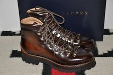 Ralph Lauren Purple Label Burnished Leather Ankle Boots