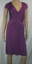 NEW BCBG MAXAZRIA Cap Sleeve V-Neck Shirred Draped Front Dress