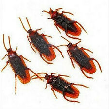 60-100Pcs Realistic Simulation Rubber Toys Cockroach Roach scary Bug Halloween @