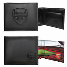 Arsenal FC Official Football Gift Embossed Crest Wallet Black (RRP £24.99!)