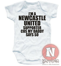 "Mono Para Bebes Marca Naughtees, Palabras En Ingles ""Newcastle United Supporter"""