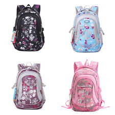 Unisex Students School Bags Floral Backpack Polyester Book Bags Rucksack ZF0030