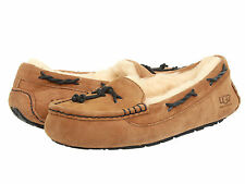Ugg Australia Brett Chestnut Moccasin 1005531 Women's Sheepskin Slipper Shoes