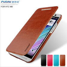PUDINI Luxury  Flip PU Wallet Leather Case Cover Skin For HTC One 2 M8 2014