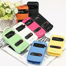 New Flip S-view Leather Case Cover With Len Cap For Samsung Galaxy S4 Zoom C101