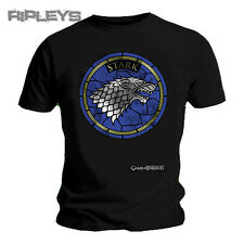 Official T Shirt Game of Thrones Black Stained Glass STARK All Sizes