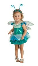 Teal Green & Blue Dragonfly Tutu Deluxe Girls Complete Costume w/Wings, Antennae