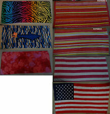 "NEW O'RAGEOUS multi stripe,zebra or USA flag Beach & Bath Towel, 28""x60"", 36""x70"