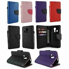 For Kyocera Hydro Icon C6730 Luxury Wallet Flip Case Cover w/ Card Holder &Strap