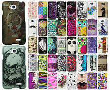 LG Realm LS620 Rubberized HARD Protector Case Snap on Phone Cover +Screen Guard