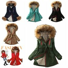 Women'S High-End Fashion Fur Coats Casual Hooded Fleece Jacket Thick Coat Parkas