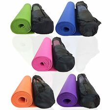 YOGA MAT SOFT 6MM THICK NONSLIP EXERCISE PILATES GYM PHYSIO WORKOUT WITH BAG